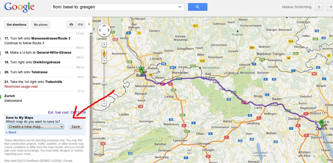 route aus google maps exportieren. Black Bedroom Furniture Sets. Home Design Ideas